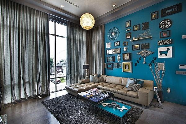 blau grau wohnzimmer gemtlich on moderne deko ideen mit interieur ... - Wohnzimmer Mit Blau