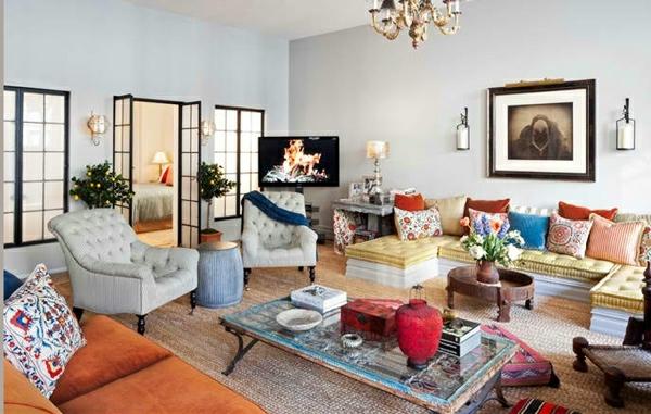 Wohnzimmergestaltung Eklektisches Interieur