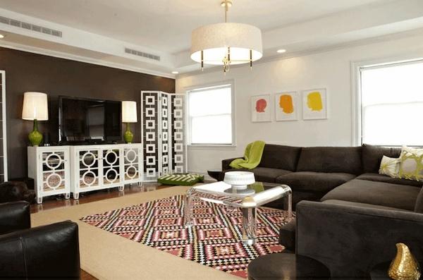 wohnzimmergestaltung mit schwung 20 moderne einrichtungsideen. Black Bedroom Furniture Sets. Home Design Ideas
