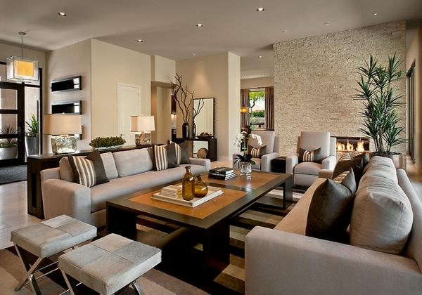wohnzimmermöbel kalkstein wandverkleidung und kamin