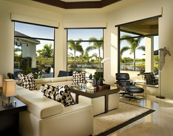 wohnzimmer möbel quadratische sofas und kaffeetisch
