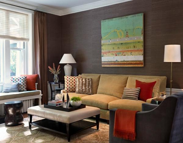 Moderne wohnzimmerm bel 20 stilvolle designer interieurs for Gemusterte tapeten