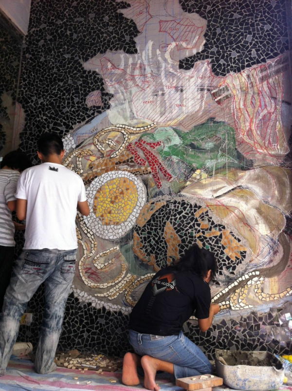 wunderlich design nudelsuppe wandgestaltung mosaik fliesen