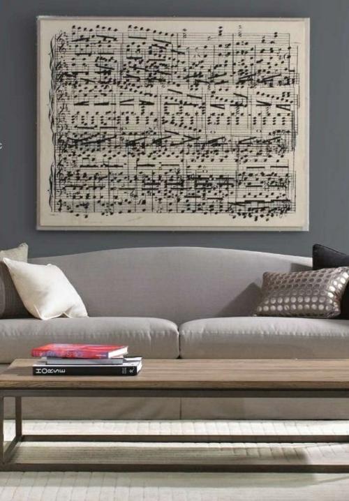 wunderliche DIY Dekoideen für Bilderrahmen noten musik