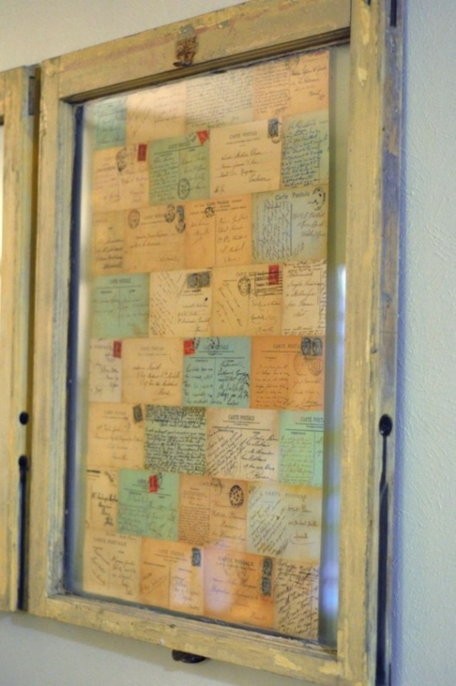 Delightful Wunderliche Dekoideen Für Bilderrahmen Postkarten Briefe