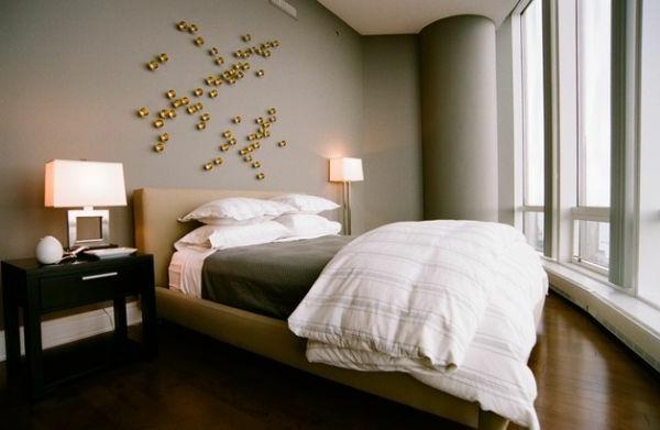 wunderliche wanddekoration dekoartikel bett schlafzimmer