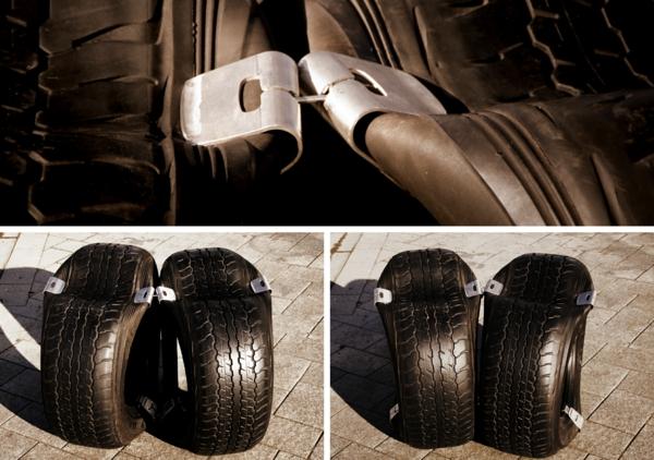 Öffentliche moderne Sitzecke aus Reifen retyre neuseeland