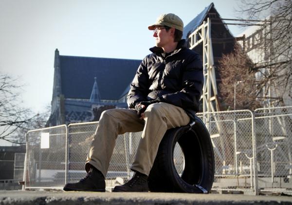 Öffentliche moderne Sitzecke aus Reifen retyre sitzen
