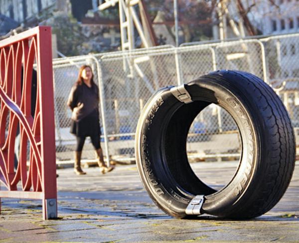 Öffentliche moderne Sitzecke aus Reifen design