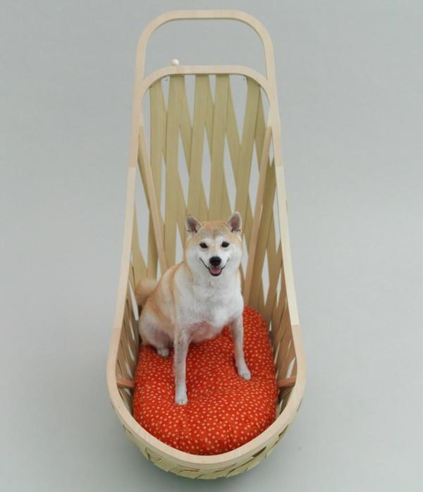 Architektur für Hunde originell ausgedacht auflagen korb