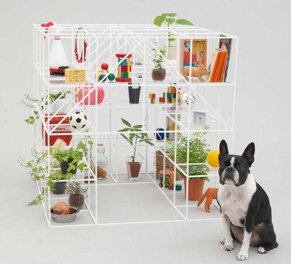 Architektur für Hunde originell ausgedacht regale konstruktion spiel