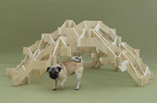 Architektur für Hunde originell struktur erholungsecke holz
