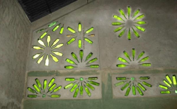 Bastelideen für DIY Projekte aus Weinflaschen beleuchtung