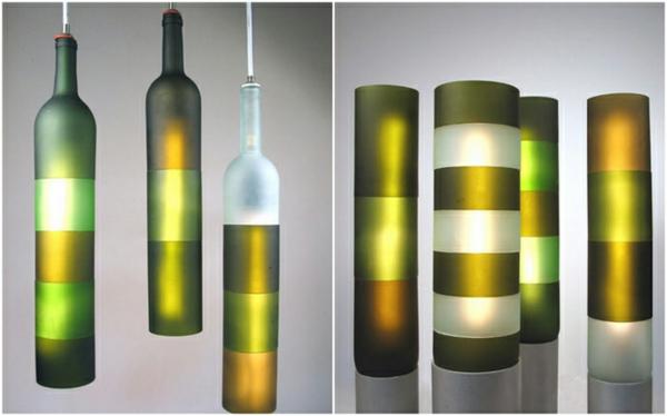 Bastelideen für- DIY Projekte aus Weinflaschen beleuchtungskörper