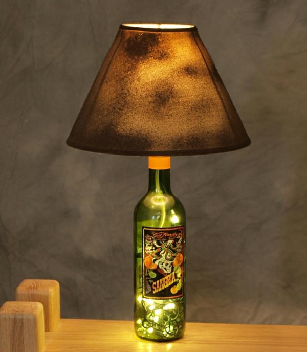 DIY Projekte aus Weinflaschen leuchtend
