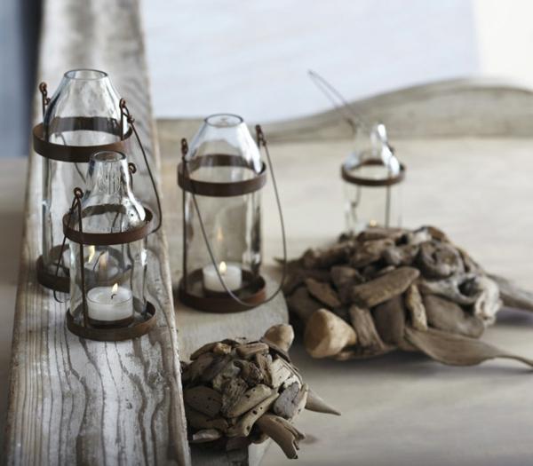 Bastelideen für DIY Projekte aus Weinflaschen rustikal laternen