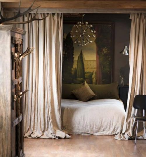 diy für Dekoration aus Bettlaken gardinen bett