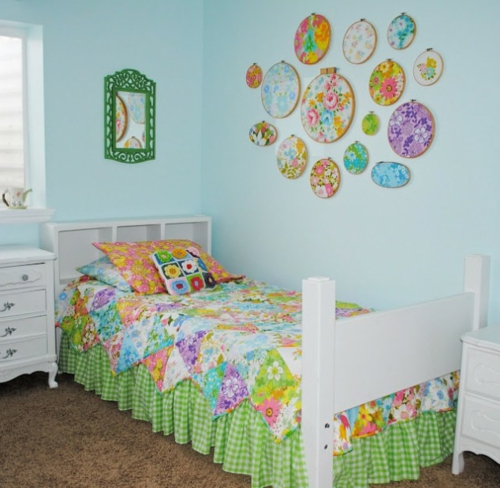 DIY  für Dekoration aus Bettlaken