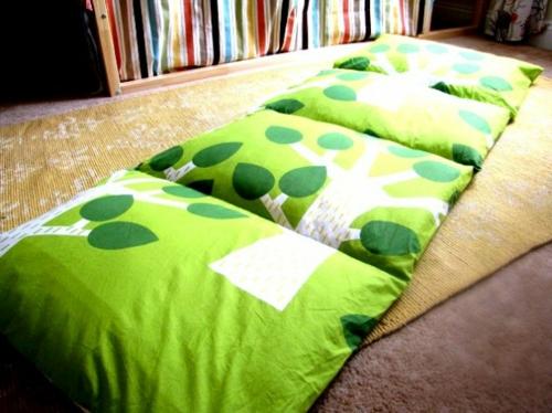 diy für Dekoration aus Bettlaken wurfkissen