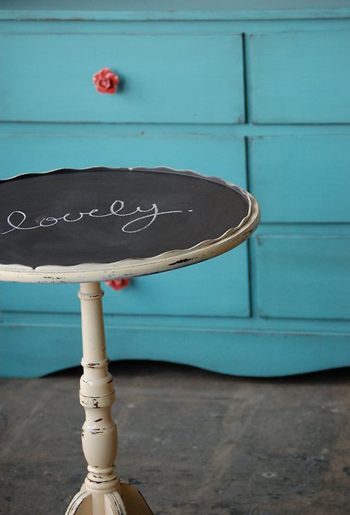 Bastelideen und Bastelmaterialien für Sie rund tischplatte tafel