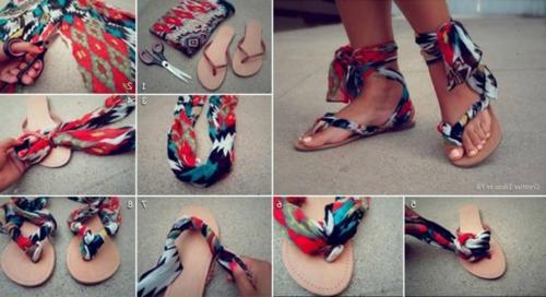 DIY Ideen Bastelmaterialien für Sie schuhe damen sommer