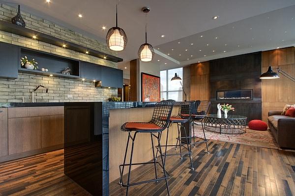 Bertoia Hocker küchen industriell look atmosphäre