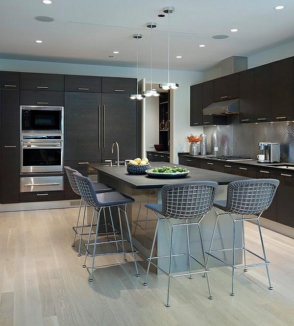 56 trendy barhocker und k chenhocker die ihre moderne k che vollenden. Black Bedroom Furniture Sets. Home Design Ideas