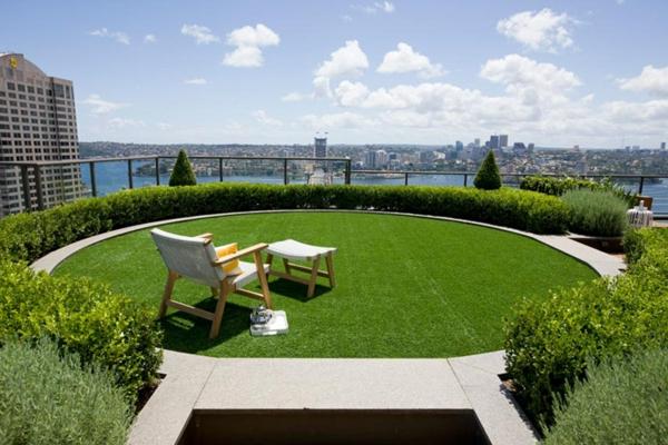 Coole Ideen für erstaunliche Dachterrasse grün city
