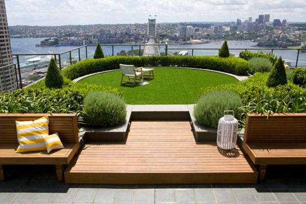Ideen für erstaunliche Dachterrasse rund sitzfläche