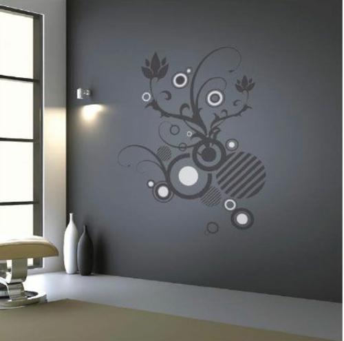 Wandtattoos schwarz weiß fenser bodenvasen Coole