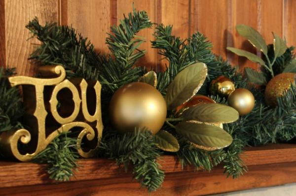 Coole Weihnachtsdeko und Weihnachtsbeleuchtung kaminsims