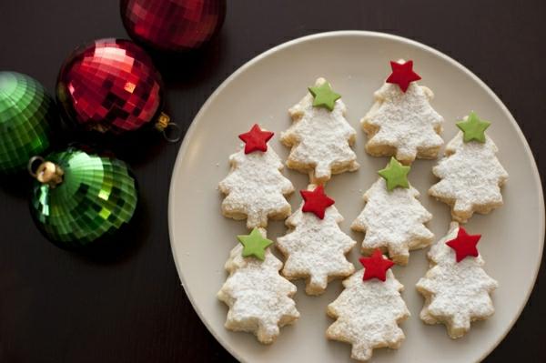weihnachtsbaum plätzchen weiß gebacken originell