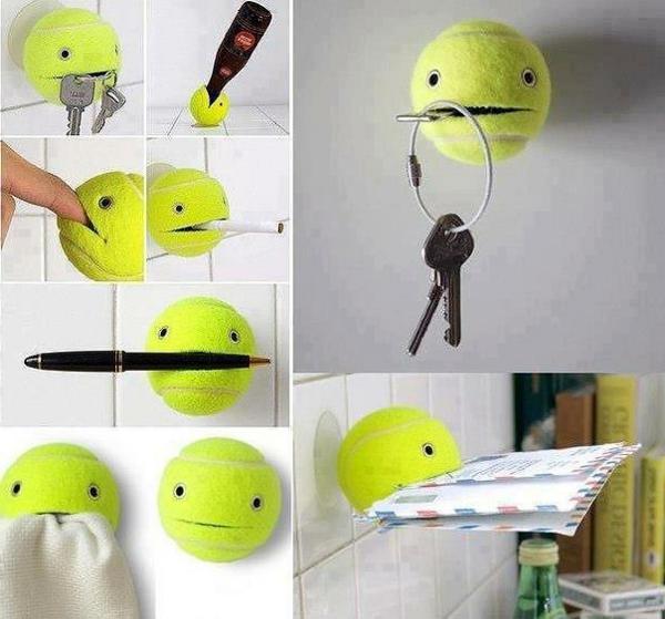 Deko Ideen lampen tenissball ständer