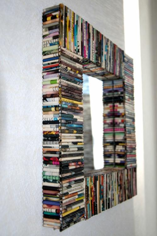 DIY Dekoration aus Zeitung - die Wohnung auf kreative Weise verzieren