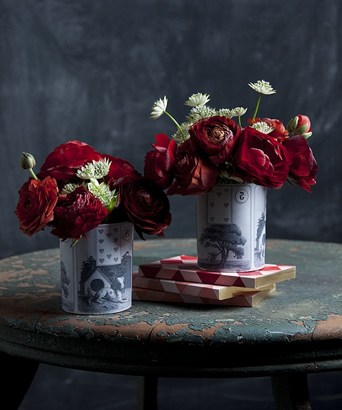 Geschenkideen zum Valentinstag blumen rosen rot DIY