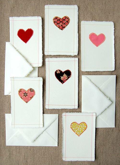 Geschenkideen zum Valentinstag geschenkkarte liebevoll DIY