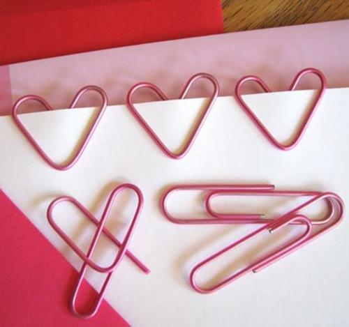 Geschenkideen zum Valentinstag klammer herzen DIY