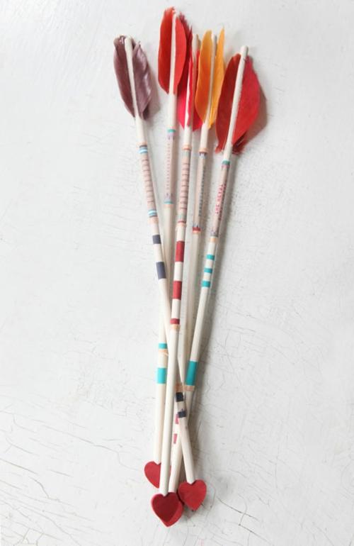 DIY Geschenkideen zum Valentinstag liebe pfeile