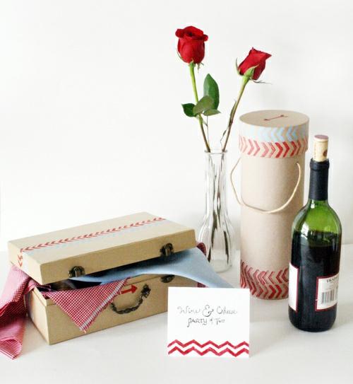 DIY Geschenkideen zum Valentinstag rosen flasche wein