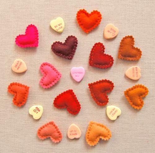 DIY Geschenkideen zum Valentinstag wunderlich projekt stoff