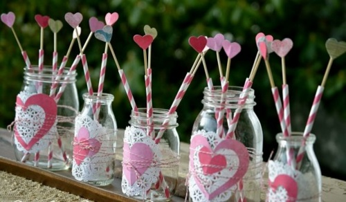 DIY Valentinstag Geschenke und Deko einweckglas herz rosa