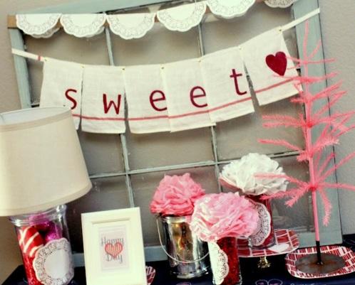 Valentinstag Geschenke und Deko girlande süß DIY