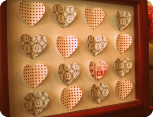 DIY Valentinstag Geschenke und Deko herzen getupft