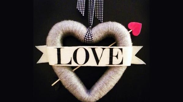 coolen Kranz zum Valentinstag herz DIY