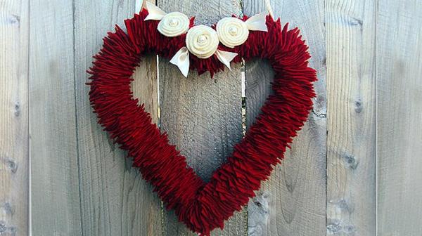 coolen Kranz zum Valentinstag herzen form DIY