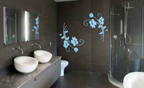 Dekoideen für Wandsticker badezimmer