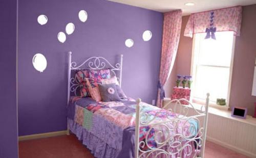 dekoration für Wandsticker lila mädchen