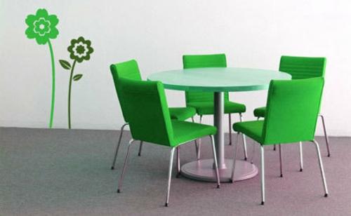 Dekoration für Wandsticker sitzungsaal grün frisch modern