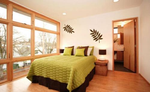 Dekoration für Wandsticker warm schlafzimmer holz einrichtung
