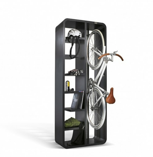 DIY Fahrrad zu Hause richtig aufbewahren regale freistehend